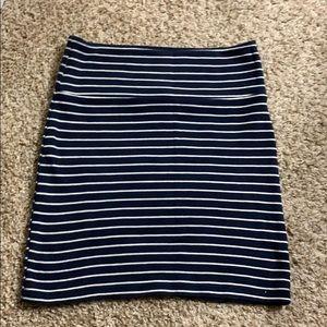 Stripped mini skirt (size s)